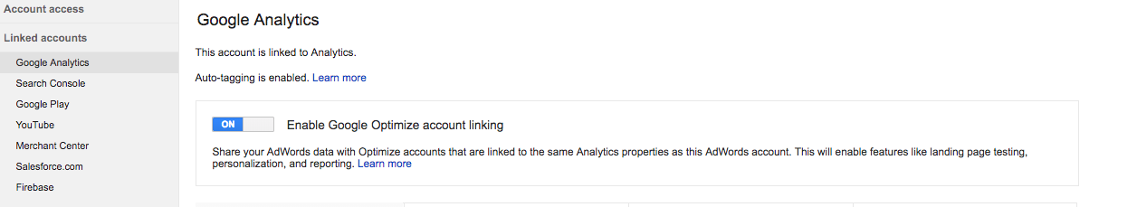 adwords connect with optimize