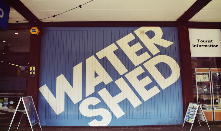 Water Shed Bristol Sign