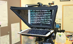 READ FROM A TELEPROMPTER