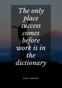 success in the dictionary quote
