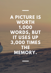 a picture is 1000 words too much memory storage quote