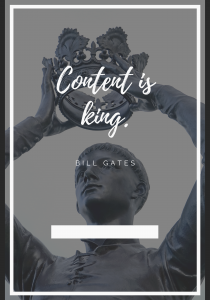 king content marketing mantra