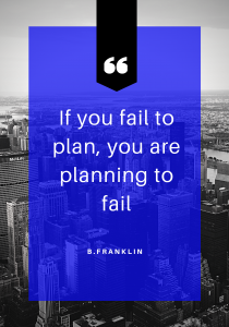 If you fail to plan, you are planning to fail